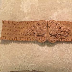 Vintage WCM NEW YORK elastic statement belt- SM